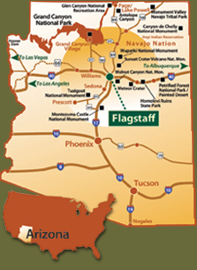 Map Of Northern Arizona Cities.Flagstaff Visit Flagstaff Arizona America Visit Flagstaff Population
